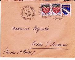 PIE-VPT-18-057 :  CACHET MANUEL. VILLELOIN-COULANGE. INDRE ET LOIRE. 5 DECEMBRE 1964. - Marcophilie (Lettres)