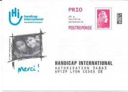PAP : Handicap International. (Voir Commentaires) - Entiers Postaux