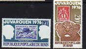"""Bénin P.A. N°  254 / 55 X  Exposition Philatélqur """"Juvarouen"""" Les 2 Valeurs Trace De Charnière Sinon TB - Bénin – Dahomey (1960-...)"""