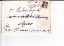 PIE-VPT-18-058 :  CACHET MANUEL. OLTINGUE. HAUT-RHIN. 19 FEVRIER 1963. - Marcophilie (Lettres)