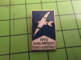 818B Pin's Pins /  Rare & De Belle Qualité : THEME JEUX OLYMPIQUES / FOLON 1992 ALBERTVILLE TIGNES JEUX PARALYMPIQUES - Olympic Games