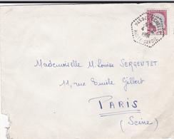 PIE-VPT-18-059 :  CACHET MANUEL. PAS DE L'ECHELLE. HAUTE SAVOIE. 4 AVRIL 1961 - Marcophilie (Lettres)