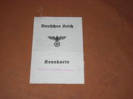 Rare CARTE TISSU 23/11/1943. DEUTSCHES REICH KENNKARTE. ROMBACH KR. METZ. DER POLIZEIPRÄSIDENT IN METZ - Vecchi Documenti