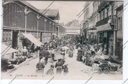 CPA Animée DIJON (21) : Le Marché - Dijon