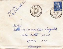 PIE-VPT-18-060 :  CACHET MANUEL. SAINT-RIMAY. LOIR ET CHER. 14 NOVEMBRE 1952. - Marcophilie (Lettres)