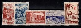 Maroc - Année 1948 Complète N** YV 266 / 267 / 268 / 269 / 270 Cote 8,70+ Euros - Maroc (1891-1956)