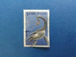 NUOVA ZELANDA NEW ZEALAND PREISTORIA ANIMALE PREISTORICO MAUISAURUS $ 1.20 FRANCOBOLLO USATO STAMP USED - Nuova Zelanda