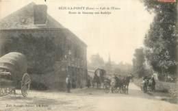 27 - BEZU LA FORET - Café De L'Union - Route De Gournay Aux Andelys (animée En 1909) - Frankreich