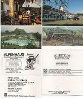 4 PUBS - Hotel Cap Aux Pierres - Restaurant Alpenhauss è Hotel Tadoussac _ Canadian Railways (110636) - Publicités