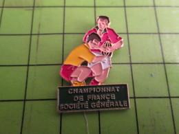 818C Pin's Pins /  Rare & De Belle Qualité : THEME SPORTS / RUGBY CHAMPIONNAT DE FRANCE SOCIETE GENERALE - Animals