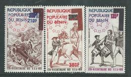 Bénin P.A. N° 260 / 62 XX  Bicentenaire De L'Indépendance Des Etats-Unis.  Les 3 Valeurs Trace De Charnière Sinon TB - Bénin – Dahomey (1960-...)