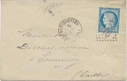 LETTRE AFFRANCHIE N°60 -OBLITERE LOSANGE GROS CHIFFRES 918-CHATEAU-GONTIER -1874 - 1849-1876: Classic Period