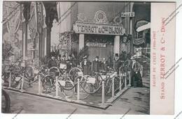 TRES RARE CPA DIJON (21) : Salon Du Cycle 1907 - Stand TERROT & Cie (adressée Par TERROT à Cycles Houroux D'Avallon) - Expositions