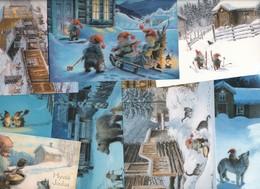 ★★LOTT 8 Postkort # Kjell E Midthun # !  MADE In FINLAND ★★ LOT 8 ARTIST PC  ★★ - Norvège