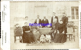 105184 ARGENTINA SANTA FE SAN GERONIMO COSTUMES FAMILY PHOTOGRAPHER LUIS PACOZZI 21.5 X 13 CM PHOTO NO POSTAL POSTCARD - Argentina