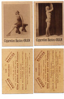 """2 Publicités Des Cigarettes """"Bastos"""" Oran - Pin-Ups  ..  (110639) - Publicités"""