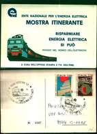 10555a) Cartolina   E.n.per L'energia Elettrica Mostra Itinerante - Pubblicitari