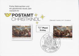 Kerstkaart Recent Christkindl - 1945-.... 2ème République