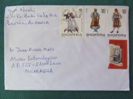 Albania 2017 Cover To Nicaragua - Costumes Dance Printing Device - Albania