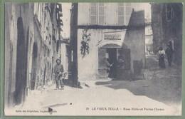 CPA - CORREZE - LE VIEUX TULLE - RUE RICHE ET PORTE CHANAC - Animation Restaurant - Salle Des Dépêches, Juglar / 29 - Tulle