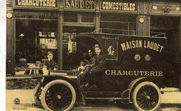 Automobiles A Paris  -  Charcuterie - Maison Laudet  -  CPR - Motos