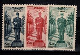 Maroc - YV 299 à 301 N** Complete Monument General Leclerc Cote 6,50+ Euros - Maroc (1891-1956)