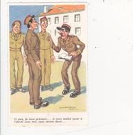 CPSM Soldat Qui Joue à L' Abruti Gradé Militaire Militaria Humour Illustrateur J. CHAPERON N° 1013 - Humoristiques