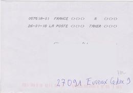 Toshiba 05751A-01 France A Taxer 2 Fois 3 Et 3  Signes Inférieurs Et Supérieurs Du 26-01-18 - Marcophilie (Lettres)
