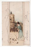 Illustrateur   Arpad BASCH   Série 785   Femme Et Pigeons    Torre Dell'orlogio - Künstlerkarten