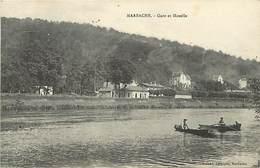 -depts Div.-ref-569- Meurthe Et Moselle - Marbache - Gare Et Moselle - Gares - Ligfne De Chemin De Fer - Barques - - France