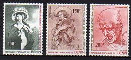 Bénin PA  N° 275 / 77 X Peintres Célèbres.  Les 3 Valeurs Trace De Charnière Sinon TB - Bénin – Dahomey (1960-...)
