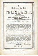 Doodsprentje BAERT Felix  (xOPSOMMER M.) - SINT-MARTENS-LATEM - Overleden Te WAKKEN 1872 - Images Religieuses
