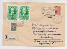 MAIL Post Cover USSR RUSSIA Literature Writer Poet France Beranger Leningrad Week Letter - Lettres & Documents