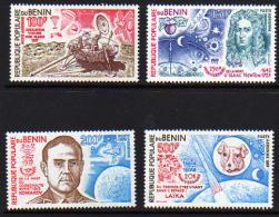 Bénin PA  N° 279 / 82 X Conquète E L'espace, Les 4 Valeurs Trace De Charnière Sinon TB - Bénin – Dahomey (1960-...)