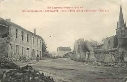 -depts Div.-ref-567- Meurthe Et Moselle - Anthelupt - Maison D Ecole Bombardee - Août 1914- Ecoles - Guerre 1914-18 - - France
