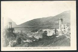 St-Claude - Pont Suspendu Longueur 150m Hauteur 50m - Photo Mandrillon N° 2 - Voir 2 Scans - Saint Claude