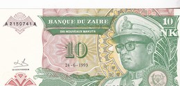 10 ZAIRES 1993 / NEUF - Zaire