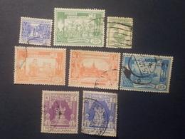 Myanmar - Burma - 1954 - Mi:MM 143-7,149-50,153 - Yt:MM 56-60,62-3,66 O  - Look Scan - Myanmar (Burma 1948-...)