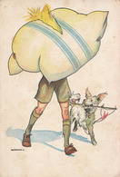 SCOUT / ÉCLAIREUR Et CHIEN Avec OREILLER / BOY SCOUT And DOG Wirh PILLOW - MARTON L. ~ 1930 (aa276) - Scouting