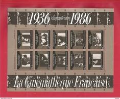 France, Bloc Feuillet N° 9, BF 9, BF9, 2433/2442, Bloc Neuf **, TTB, Cinémathèque Française - Neufs