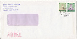 Thailand Cover Sent Air Mail To Denmark From The Royal Danish Embassy Bangkok - Thailand