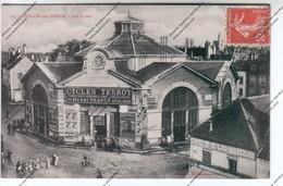 RARE CPA CHALON SUR SAONE (71) : Les Halles Publicité Cycles TERROT Henri TRAPET 10 Place De Beaune - Chalon Sur Saone
