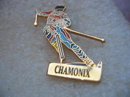 Pin's Corse De Ski De Piste Sur Le Site De CHAMONIX - Winter Sports
