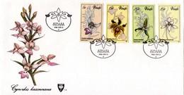 Venda - 1981 Orchids FDC # SG 46-49 , Mi 46-49 - Orchidées