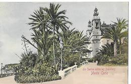 MONTE CARLO  LE CASINO ENTRE LES PALMIERS   (VOYAGE 1903  ) - Monte-Carlo