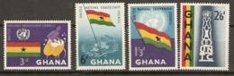 Ghana   1959  SG  238-41   Trustship  Council   Unmounted Mint - Ghana (1957-...)