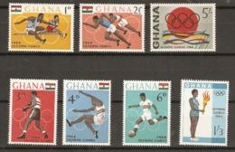 Ghana  1964  SG  347-53  Olympics Unmounted Mint - Ghana (1957-...)