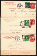 Postal History: USA 3 Uprated Postal Stationary Cards From 1925 Sent From Madison SG - Postal Stationery