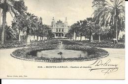 MONTE CARLO  CASINO ET JARDIN    (VOYAGE  TAXE TIMBRE ) - Monte-Carlo