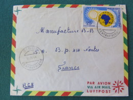 Centrafrican Rep. 1964 Cover To France - Map - African Unity - Sun - Centrafricaine (République)